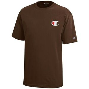 Champion Reverse Weave Youth (Brown) Short Sleeve T-Shirt