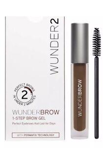 Wunderbrow Wunder2 Brow~Auburn~Perfect Eyebrow MakeUp Brown Gel Waterproof
