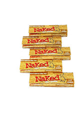 Naked Cigarette Rolling Papers 1 1/4 - 5 Packs Box- 32 Leaves Per Pack- Natural