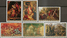 YUGOSLAVIA 1976 Art Paintings Historical Events set MNH
