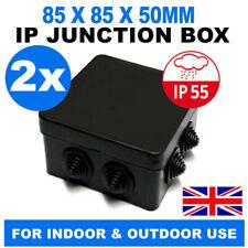 Waterproof Outdoor Noir//blanc IP Boîte De Jonction IP55 pour extérieur jardin CCTV