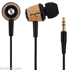 Awei ES - Q9 Wood Style 1.2m Cable In-ear Earphone for Mobile Phone Tablet PC