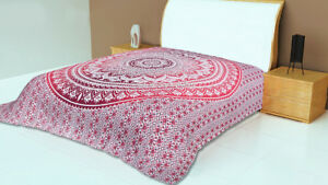 Hippie Bedding Bedspread Indian Mandala Bohemian Queen Size Bed Cover Bed Sheet