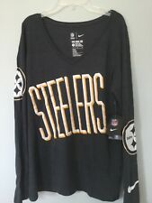 NWT NFL Team Apparel NIke Pittsburgh Steelers Large L Shirt Top Tri Blend