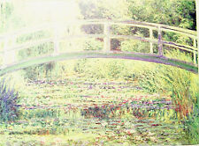 """REPRODUCTION PRINT APPR. 10""""X13"""" THE WATER-LILY POND BY MONET FROM MASTERPIECE"""