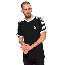 Adidas Originals 3 Rayas Logo tee Hombre Trefoil Vintage Camiseta Negro Blanco