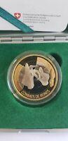 Switzerland 10 Francs Bimetal Commemorative Coin 2012 Combat De Reines Coa Box