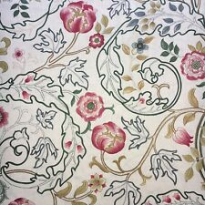 William Morris Curtain Fabric MARY ISOBEL 2.2m Pink/Ivory 100% Linen (220cm)