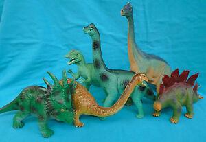 """DINOSAURS, Stegosaurus, Brachiosaurus, Dilophosaurus, Styracosaurus, 7-12"""""""