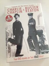 ☀️ Charlie Chaplin & Buster Keaton 2-Disc DVD Box Set 4-Movies NEW SEALED RARE