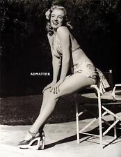 MARILYN MONROE NORMA JEAN PIN-UP POSTER SIZZLING HOT PHOTO WHAT INCREDIBLE LEGS!
