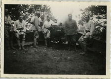 PHOTO ANCIENNE - VINTAGE SNAPSHOT - MILITAIRE CANON ARTILLERIE -MILITARY WEAPON