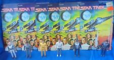 Star Trek Figure & Card Back Lot Mego 1979 Kirk Spock Ilya Scotty McCoy Decker