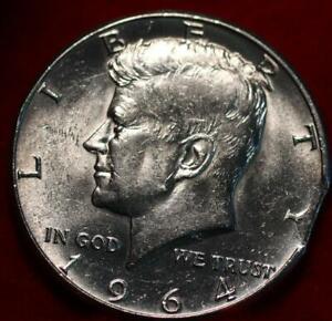 Uncirculated 1964 Philadelphia Mint Silver Kennedy Half Clip Error