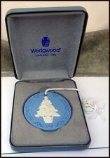 Wedgwood Blue & White Jasperware Christmas Tree Ornament in Original Box