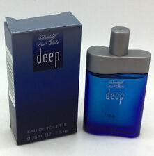 Cool Water Deep by Davidoff  Eau De Toilette Mini for Men 0.25 Ounces - 7.5 ml