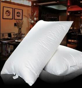 100% SIBERIAN Goose Down Filled Pillow 1200g White 100% Egyptian Cotton Cover@@