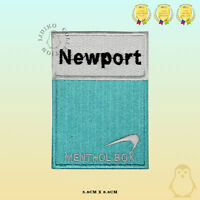 Newport Menthol Box Embroidered Iron On Sew On Patch Badge For Clothes Bags Etc