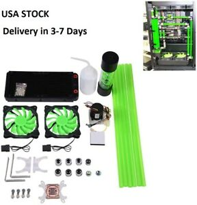 Water Cooling Kit for PC240mm Heat Sink CPU Water Block LED Fan Computer Cooling