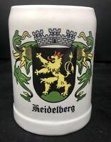 Vintage Beer Mug Heidelberg Stein Half Liter