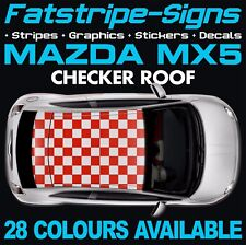 MAZDA MX5 CHECKER ROOF GRAPHICS DECALS STICKERS STRIPES VINYL 1.6 1.8 ROADSTER