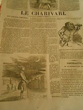 Caricature 1843 - Daumier Un homme qui regarde la Lune