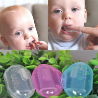 3pcs Baby Infant Soft Silicone Finger Toothbrush Teeth Rubber Massager Bru CJN