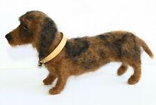 sweet Dog needle felted miniature Animal toys handmade #1