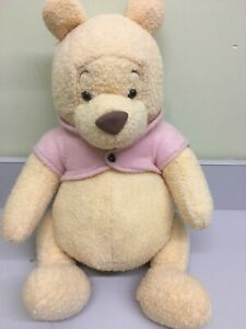 """Walt Disney Co. Large 20"""" CLASSIC Winnie The POOH RARE Jointed Plush with jacket"""