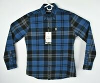 NEW Barbour Mens Tailored Fit Button Up Plaid Shirt Blue US Size Small