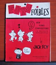 Foy's Foibles 9 New Piano Compositions Jack Foy - 1961 songbook sheet music