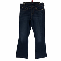 Levi Strauss Signature Womens Blue Mid Rise Straight Stretch Jeans Size 12 S/C