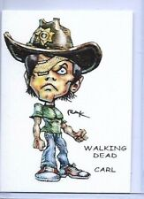 THE WALKING DEAD ** TRADING CARD ART SIGNED by RAK ** ONE EYED CARL GRIMES ** NM