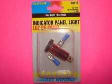 "12 VOLT RED INDICATOR PANEL LIGHT PILOT DASH BOARD WARNING HAZARD 1/2"" HOLE"