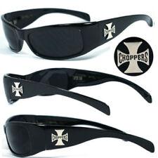 Genuine Choppers Bikers Men's Sunglasses - BLACK