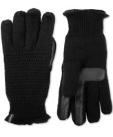 ISOTONER Women's Textured Touchscreen Gloves One Size Black