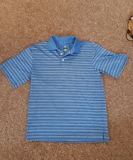 BOLLE GOLF blue striped polo shirt  size S.