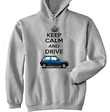 RENAULT 5 KEEP CALM AND DRIVE - GREY HOODIE - ALL SIZES IN STOCK