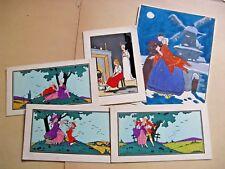 GOUACHE ORIGINALE Attr. RENE DE SAINT-MAURICE 1930 ART-DECO + CARTES BERTINI