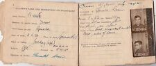 WW2 Australian soldier Ronald Dean 4th unit static laundry service record book