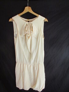 Dress Silk Maje 1 Effective Beige Size 38