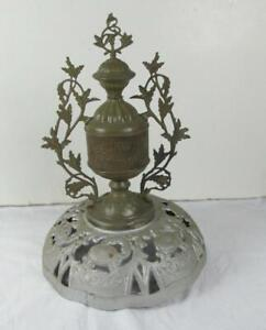Antique Vintage Beckwith Round Oak Parlor Stove Finial Topper