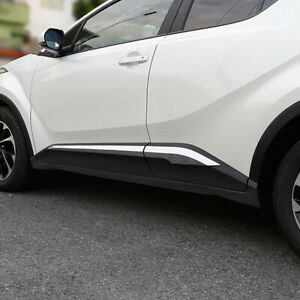 For Toyota C-HR CHR 2016-2019 Chrome Side Door Body Strips Cover Trim