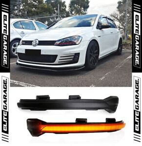 Fits Volkswagen Golf MK7/MK7.5 Sequential Side LED Indicators (SMOKED) VW GTI
