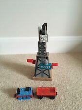 Wooden Cranky The Crane Brio ELC With Cargo Car And Thomas Tank Engine Train.