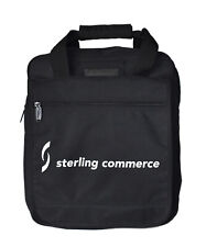 Sterling Commerce Black Backpack School Travel Bag ID Wallet Pouch