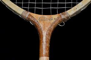 LOT 2 Antique Vintage ca 1940 Champ Badminton Rackets MATCHING PAIR