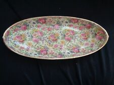 Grimwades Royal Winton Summertime Chintz Canoe Shaped Serving Tray