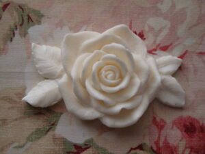 NEW! Shabby & Chic ROSE & LEAVES 1 pc. Furniture Appliques Architectural Mount