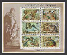 Burundi B67c sheet,MNH.Michel 1237-1242 Bl.88B. Michelangelo Buonarotti,500,1975
